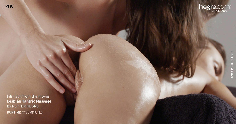 Sexy, Lesbische öl - Massage
