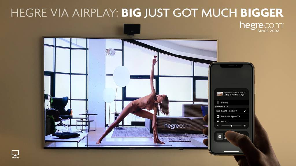 Hegre via AirPlay: BIG just got much BIGGER!
